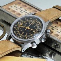 Aristo step case  13zn m90 30ch valjoux 23 gilt dial 3525 Zeer goed Staal 35mm Handopwind Nederland, Utrecht