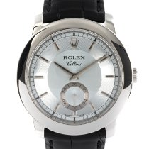 Rolex Cellini Platina 38mm Blauw