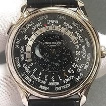 Patek Philippe World Time occasion 39.8mm Noir GMT Cuir de crocodile