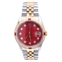 Rolex Datejust Gold/Steel 36mm Red No numerals United States of America, Florida, Aventura