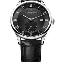 Maurice Lacroix Masterpiece Small Seconde Steel 40mm Black Roman numerals