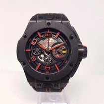 Hublot Big Bang Ferrari Carbono 45mm Transparente Arábigos