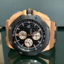 Audemars Piguet Royal Oak Offshore Chronograph Or rose 44mm Noir Sans chiffres France, Paris