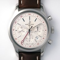 Breitling Transocean Chronograph GMT Acero 43mm Champán