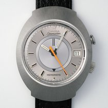 Omega Memomatic Steel 30mm Silver No numerals