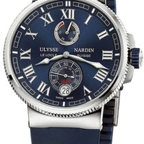 Ulysse Nardin Titanium Automatic Blue Roman numerals 43mm new Marine Chronometer Manufacture