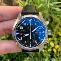 IWC Pilot Chronograph Steel 42mm Black Arabic numerals United States of America, California, Los Angeles