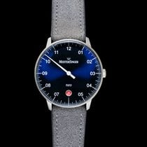 Meistersinger Steel Automatic Blue 36mm new Neo