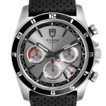 Tudor Grantour Chrono occasion 43mm Argent Chronographe Date Cuir