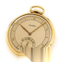 Cartier Uhr gebraucht 1925 Gelbgold 43mm Arabisch Handaufzug Uhr mit Original-Box