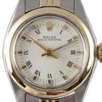 Rolex Oyster Perpetual 26 Or/Acier 26mm Blanc