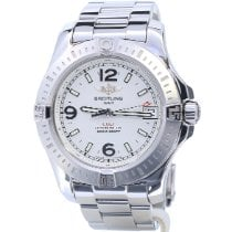 Breitling Colt 36 Steel 36mm Silver No numerals