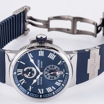 Ulysse Nardin Marine Chronometer Manufacture Сталь 43mm Синий Римские Россия, Санкт-Петербург