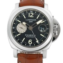 Panerai Luminor GMT Automatic pre-owned 44mm Date GMT Crocodile skin