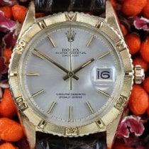 Rolex Datejust Turn-O-Graph Zuto zlato 36mm Boja šampanjca Bez brojeva