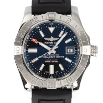 Breitling Avenger II GMT pre-owned 43mm Black Date GMT Rubber