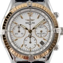 Breitling Chrono Cockpit D30012 Very good Gold/Steel 37mm Automatic
