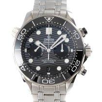 Omega Seamaster Diver 300 M Сталь 44mm Черный