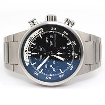 IWC Steel Automatic Black No numerals 42mm pre-owned Aquatimer Chronograph