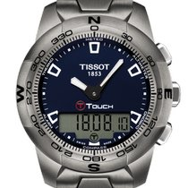 Tissot T-Touch II Titan 43.3mm Blau Keine Ziffern