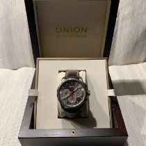 Union Glashütte Belisar Chronograph pre-owned 43mm Grey Chronograph Date Leather