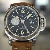 Panerai Steel Automatic Black Arabic numerals 44mm pre-owned Luminor GMT Automatic