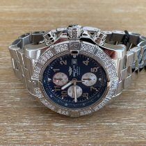 Breitling Super Avenger pre-owned 48mm Blue Chronograph Date Steel