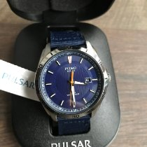 Pulsar pre-owned Quartz 41mm Blue Mineral Glass 10 ATM