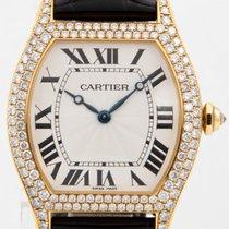Cartier Gelbgold Handaufzug Silber Römisch 34mm gebraucht