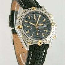Breitling Chronomat Золото/Cталь 39mm Черный