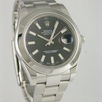 Rolex Datejust II Acier 40mm Noir Sans chiffres