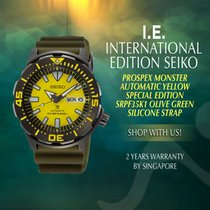 Seiko Monster Steel 45mm Yellow No numerals
