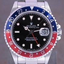 Rolex 16710 Acier 1996 GMT-Master II 40mm occasion