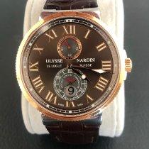 Ulysse Nardin Marine Chronometer Manufacture Gold/Steel 43mm Brown Roman numerals