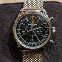 Breitling Transocean Chronograph 38 Сталь 38mm Черный