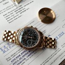 Patek Philippe Perpetual Calendar Chronograph Roségoud 41mm Zwart Geen cijfers