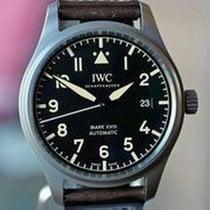 IWC Titanium Automatic Black Arabic numerals pre-owned Pilot Mark