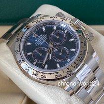 Rolex Daytona Oro blanco 40mm Azul Arábigos