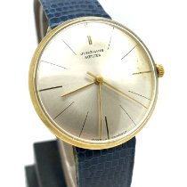 Junghans Yellow gold Manual winding 34mm pre-owned Meister