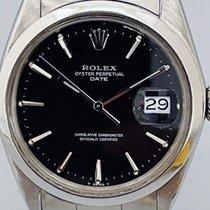Rolex Oyster Perpetual Date Сталь 34mm Черный Без цифр