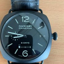 Panerai Ceramic Manual winding Black Arabic numerals 45mm pre-owned Radiomir 8 Days