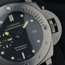 Panerai Luminor Submersible 1950 3 Days Automatic Titanio 47mm Negro Sin cifras