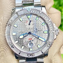 Ulysse Nardin Steel Automatic Silver 42.7mm pre-owned Maxi Marine Diver