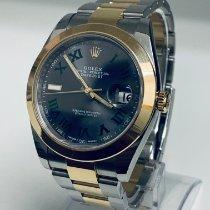Rolex Datejust Gold/Stahl 41mm Grau Römisch Deutschland, Karlsruhe