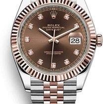 Rolex Datejust II Or/Acier 41mm Brun Sans chiffres France, Paris