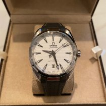Omega Steel Automatic Silver 38mm pre-owned Seamaster Aqua Terra