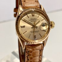Rolex Or rose Remontage automatique Or Sans chiffres 26mm occasion Oyster Perpetual Lady Date