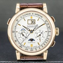 A. Lange & Söhne Datograph Or rose 41mm Blanc Romains