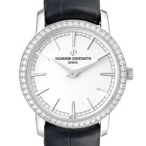 Vacheron Constantin White gold Manual winding Silver 33mm pre-owned Patrimony