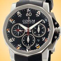 Corum Admiral's Cup Challenger nouveau Remontage automatique Chronographe Montre avec coffret d'origine et papiers d'origine 753.691.20/F371 AN92